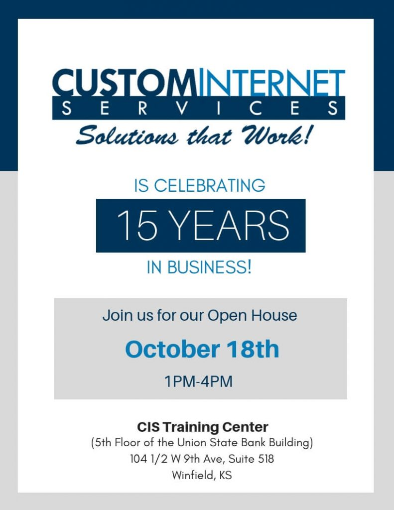 Custom Internet Services LLC Open House Flyer