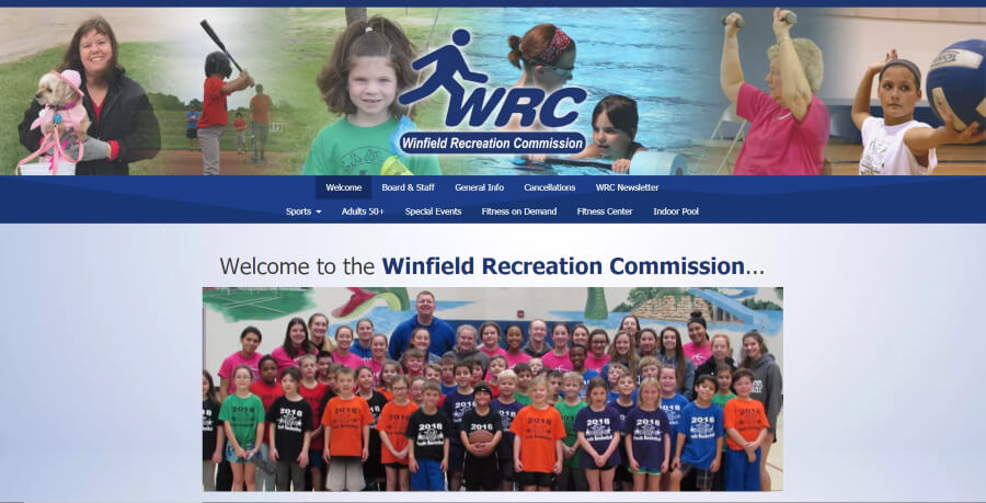 Homepage for the Winfield Recreation Commission
