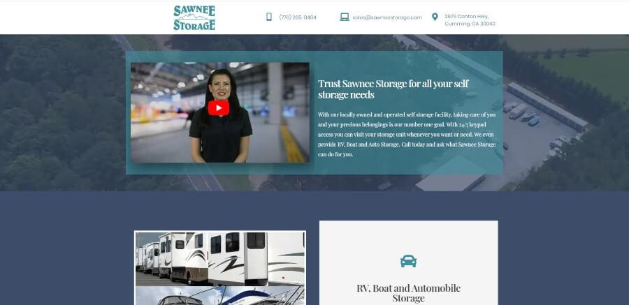 Homepage for Sawnee Storage